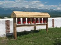 Будиские молитвенные барабаны в Тункинской долине