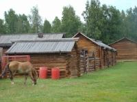 музей деревянного зодчества Тальцы в поселке Листвянка