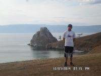 Ольхон, вид на скалу Шаманка