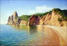 Скалистые берега Байкала