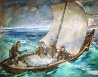 Байкальские рыбаки выставляют сети